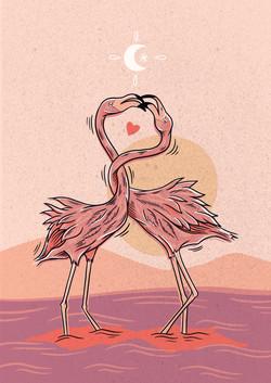 Illustration Flamand-Rose
