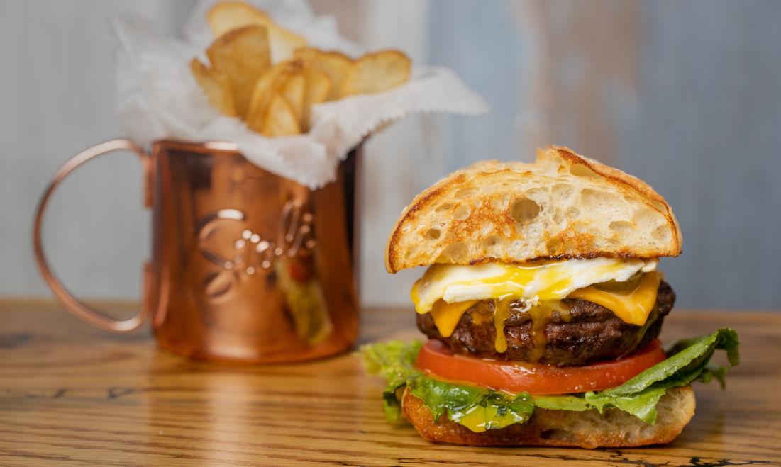 Farm Burger with Egg
