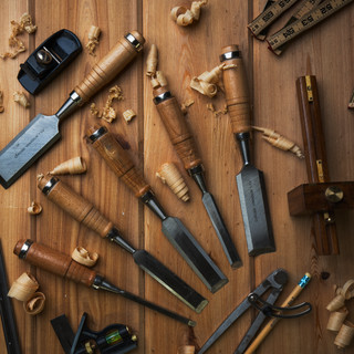 Chisel Woodworking Flat Lay