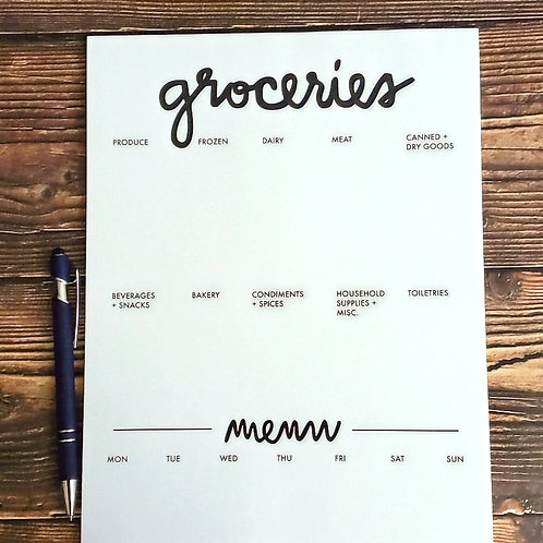 Large Grocery Notepad