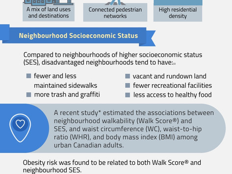 Neighbourhood Walkability, Socioeconomic Status and Obesity