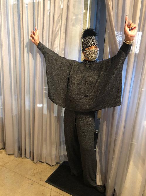 Charcoal Grey Drawstring Pants