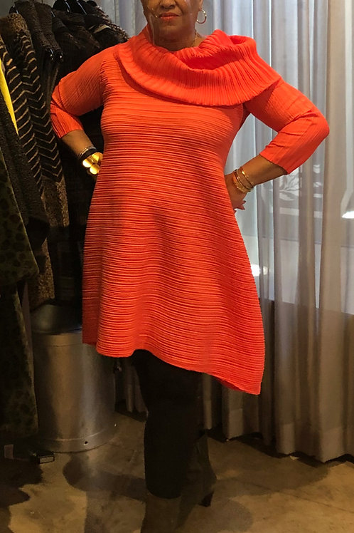 Embrace The Season Orange Tunic Dress