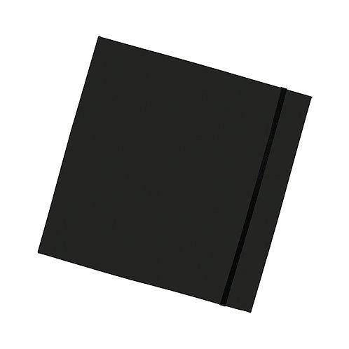 Libreta Negra con interior Rojo 18.5 x 18.5 cm 100 hojas blancas , incluye pluma