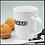 Thumbnail: Taza de cerámica Blanca con cuchara. Capacidad 355 ml.