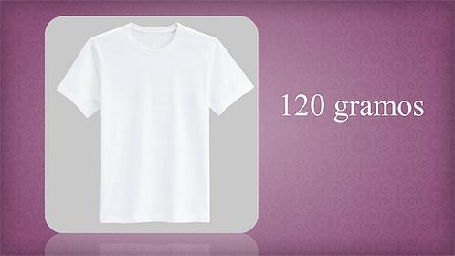 Playera Blanca o Color 120 gramos (Para campaña)