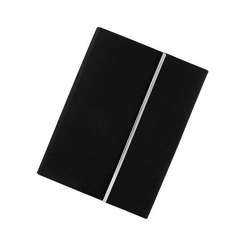 Libreta de Curpiel Negra 95 hojas de raya Cierre magnético