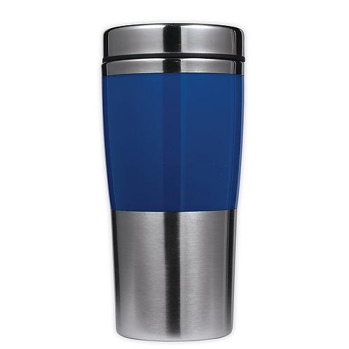 Vaso de Acero con Franja Azul 400 ml