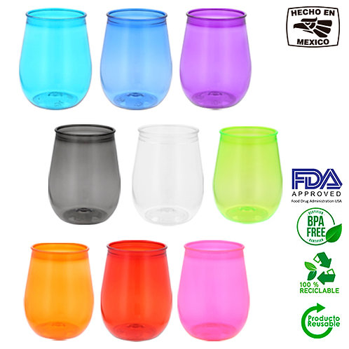 Vaso EGG plastico Re-Usable de 350 ml