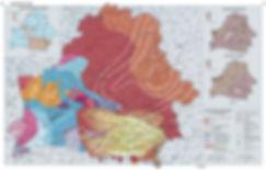 Карта тектонических разломов Беларуси