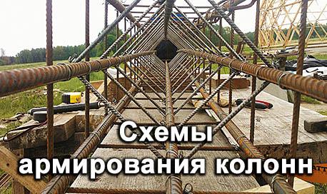 Схемы армирования колонн