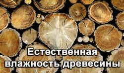 Естественная влажность древесины