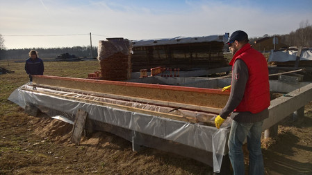 Все двутавры и другие деревянные элементы перед установкой должны быть обработаны огне-биозащитой.