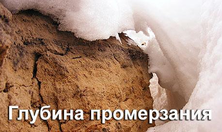 Глубина промерзания