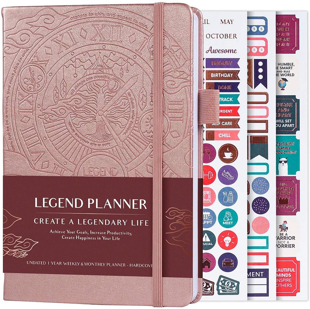 Legend Planner in Rose Gold