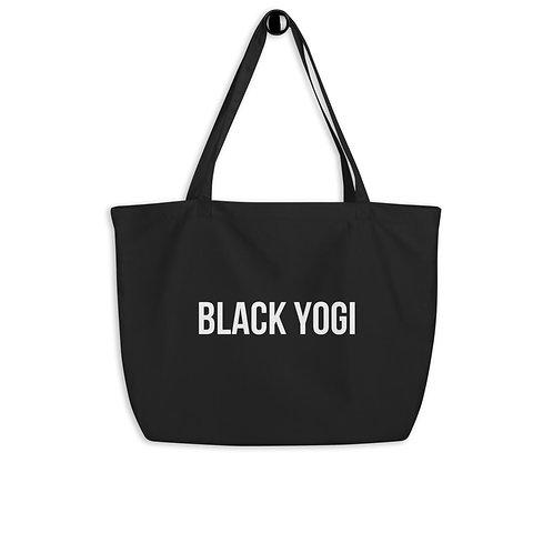 Black Yogi Large Organic Tote Bag