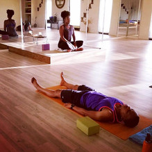 Teaching at Roots Up Yoga Flow