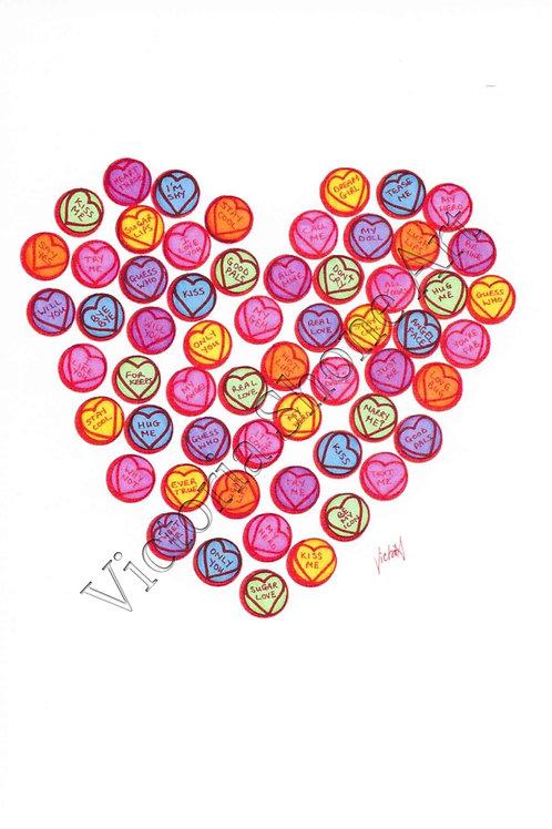 Lovey Love Hearts