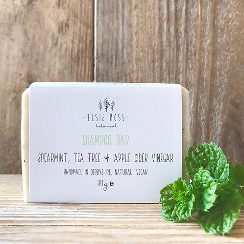 Spearmint, Tea Tree and Apple Cider Vinegar Shampoo Bar