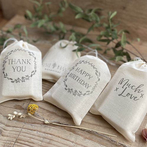 Cotton drawstring presentation bag