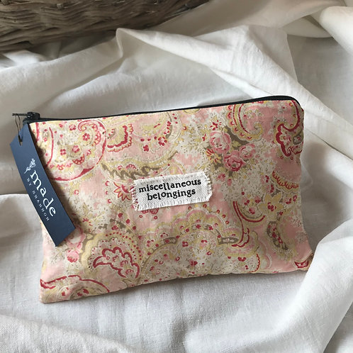 Handmade Cosmetic Pouch - paisley - miscellaneous belongings