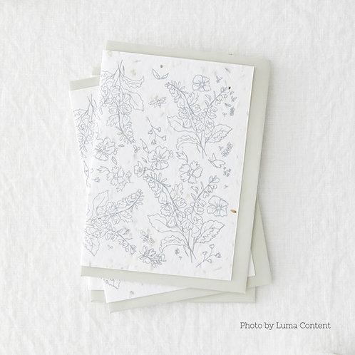 Botanical Print Seeded Greetings Card