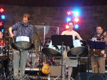 Opening for the Beach Boys with The Bacchanal Steel band