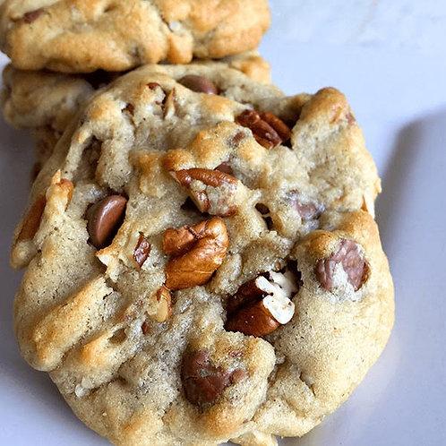 Chocolate Chips With Pecans Boom Cookies, (1/2 Dozen)