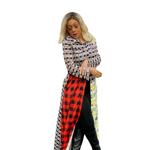 The Playful Plaid Duster Jacket
