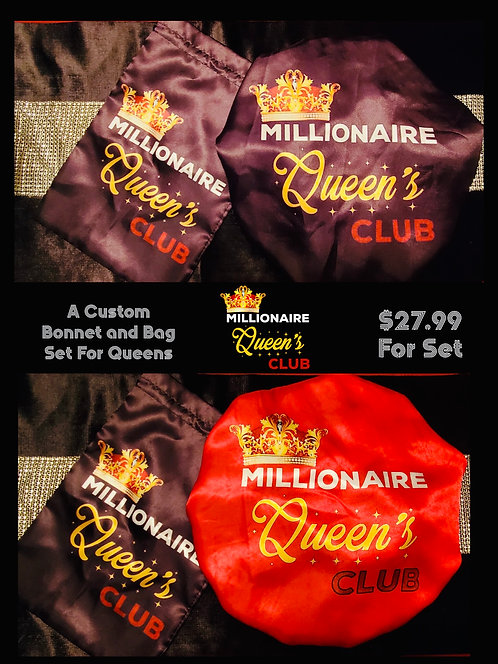 Millionaire Queen's Reversible Bonnet and Bag Set