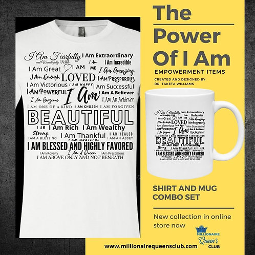 The Power of I Am Shirt and Cup Set