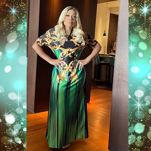 Dazzle Me Green Dress, One Size Fits Small Through XL
