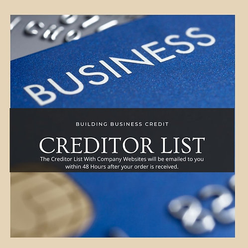Building Business Credit Creditor List