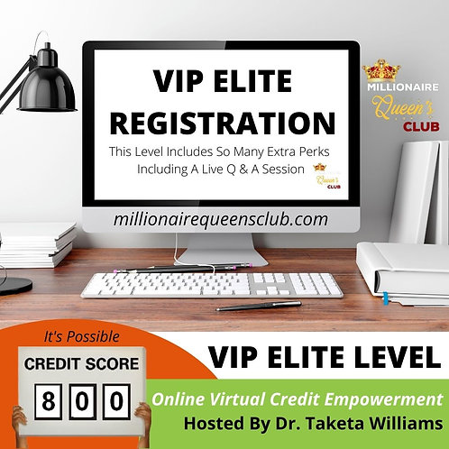 VIP CREDIT EMPOWERMENT ELITE LEVEL