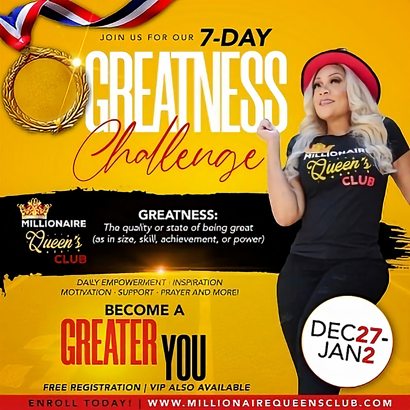 7 Day Greatness Challenge
