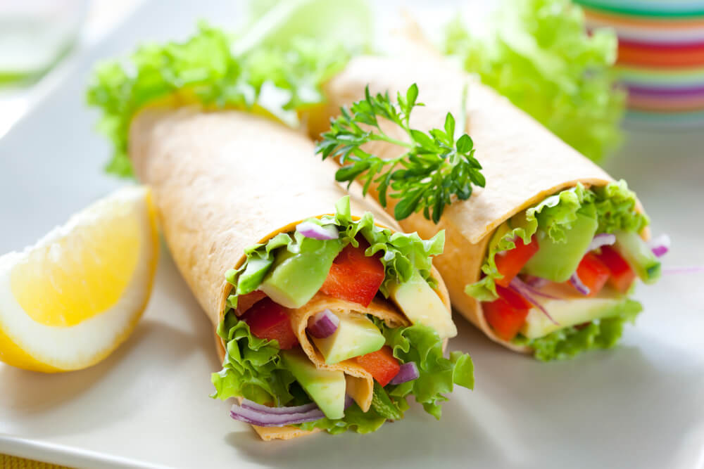 Healthy recipes - Avocado and vegetables rolls
