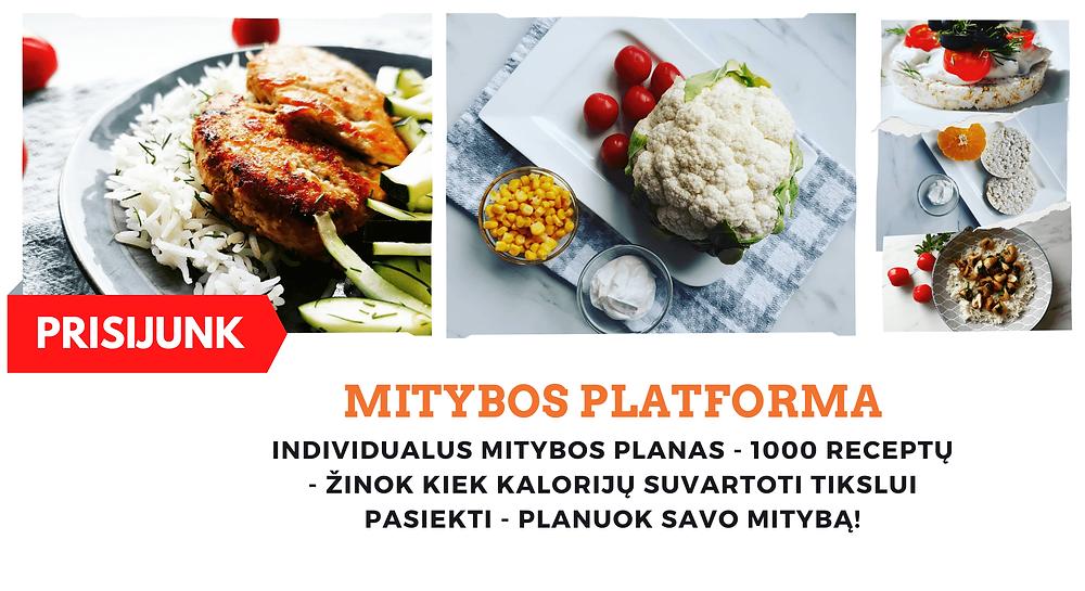 Individualus mitybos planas - Mitybos platforma
