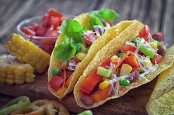 Healthy recipes - Corn tortilla with beans