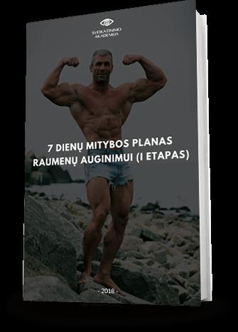7 dienų mitybos planas raumenų auginimui