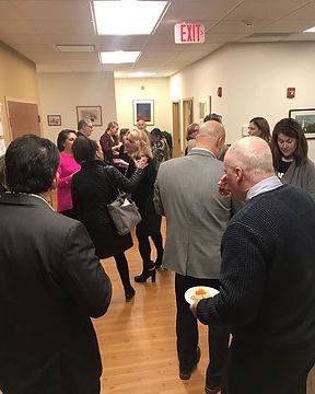 Newtown's Center Sphere networking event