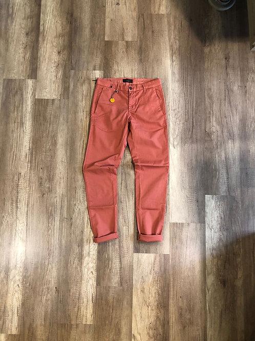 Pantalone Squad Slim Fit Lino salmone