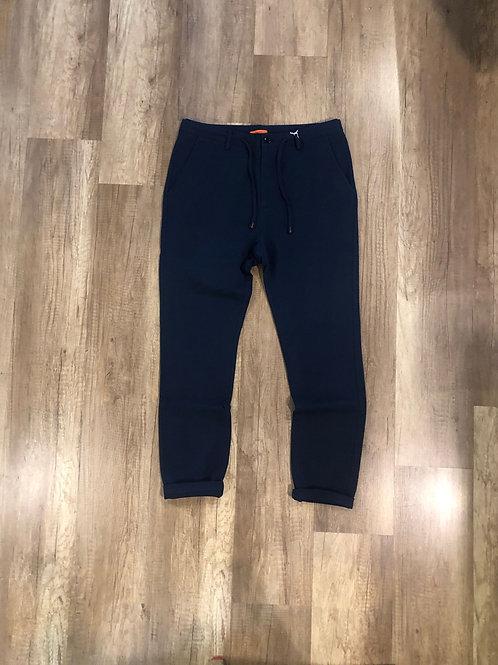 Pantalone Tuta Elegante Distretto 12 Slim Fit Microfantasia Blu