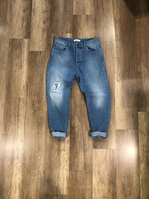 Jeans Imperial Chiaro Con Strappi