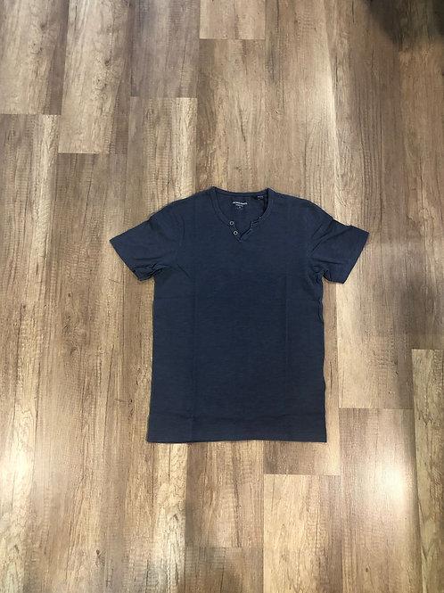 T-shirt Serafino Jack e Jones Blu