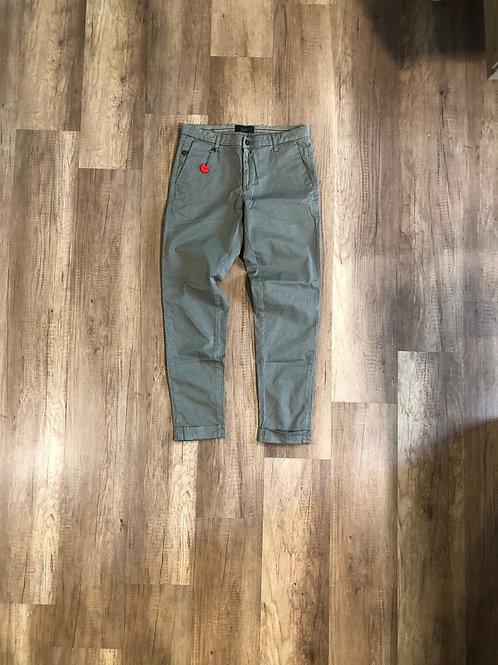 Pantalone Squad Slim Fit Microfantasia verde