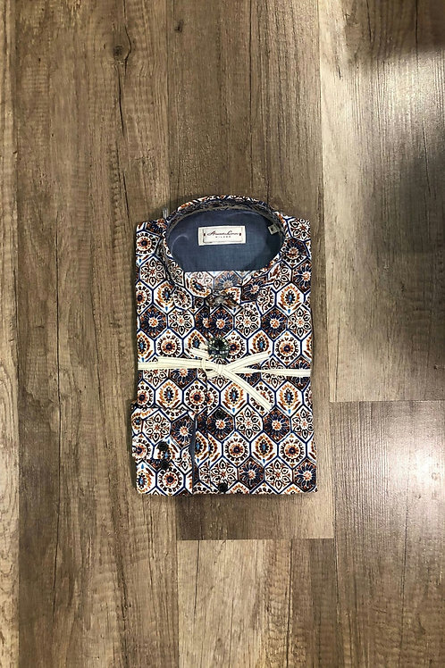 Camicia Fantasia Fiori  Slim Fit