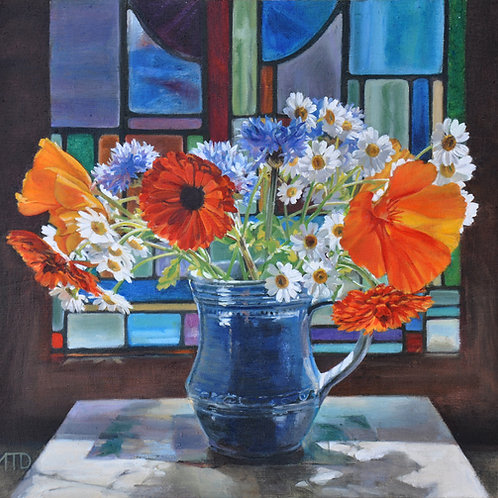 Summer Flowers & stained glass