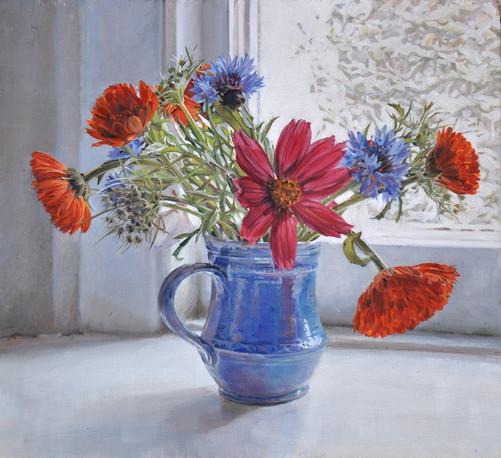 Summer flowers  Oil on panel.JPG