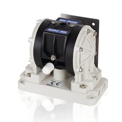Graco® Husky 205 PP 1/4 in. NPT AODD Pump, PP/PTFE