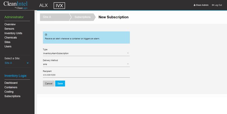 CleanIntel IVX Subscription